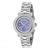 Ladies Diamond Watches: Luxurman Montana Blue MOP Watch 2ct