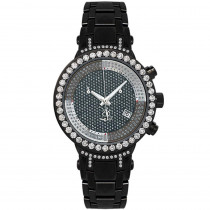 Ladies Joe Rodeo Diamond Watch 2ct Black