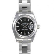 Ladies ROLEX Oyster Watch Perpetual Datejust Black