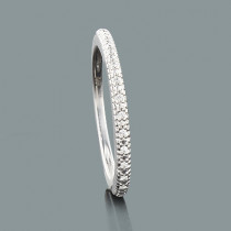 Ultra Thin Ladies Round Diamond Band 0.06ct 10K Gold