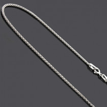 Ladies Sterling Silver Chains: Fancy Box Chain Necklace 16