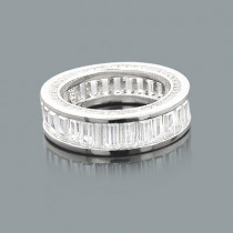 Large Baguette Diamond Eternity Band Made in New York 6.20ct 14K
