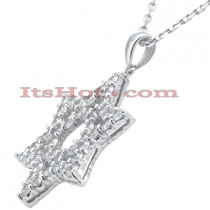 Large Diamond Star of David Necklace 4.20ct 14k Gold