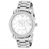 Large Mens Diamond Watches: Luxurman Phantom VS Diamonds Watch 4 ct