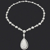 Luccello Designer Jewelry: Ladies Diamond Drop Necklace 18.40ct 18K