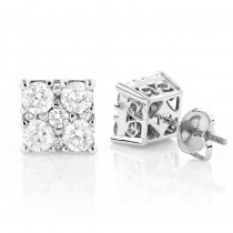 Lux 2 Carat Diamond Stud Earrings 14K Gold