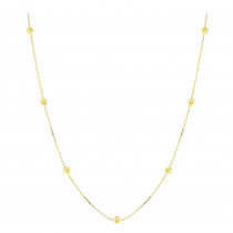 Luxurman 14K Gold Chain Necklace with Yellow Diamonds by the Yard 0.7ct