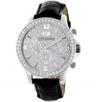 Luxurman 3ct Mens Diamond Watch
