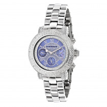 Luxurman Ladies Diamond Watch 0.30ct Blue MOP
