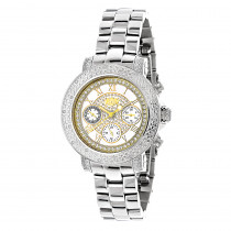 Luxurman Ladies Diamond Watch 0.3ct Two Tone