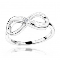 Luxurman Love Quotes: Sterling Silver Infinity Diamond Ring For Women