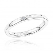 Luxurman Love Quotes: Womens Stackable Sterling Silver Diamond Wedding Ring