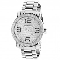 Luxurman Mens Diamond Watch 0.12 ct