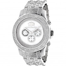 Luxurman Mens Diamond Watch 1 Carat w Diamond Band