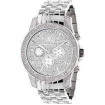 Luxurman Mens Watches Designer Diamond Watch 0.50ct