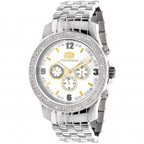 Luxurman Raptor Two-Tone Mens Diamond Watch 0.25ct