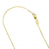 LUXURMAN Solid 10k Gold Box Chain For Women 0.8mm Wide