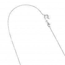 LUXURMAN Solid 10k Gold Box Chain For Women Adjustable 0.7mm
