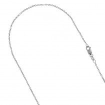 LUXURMAN Solid 10k Gold Cable Chain For Women 0.8mm Wide