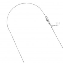 LUXURMAN Solid 10k Gold Cable Chain For Women Adjustable 0.9mm