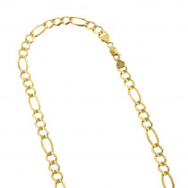 LUXURMAN Solid 10k Gold Figaro Chain For Men 8.5mm Wide