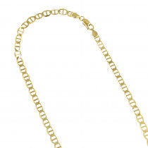 LUXURMAN Solid 10k Gold Mariner Chain For Men & Women 4.5mm Wide