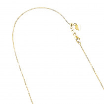 LUXURMAN Solid 14k Gold Box Chain For Women Adjustable 0.9mm