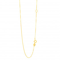 LUXURMAN Solid 14k Gold Box Chain For Women Extendable 0.6mm Wide