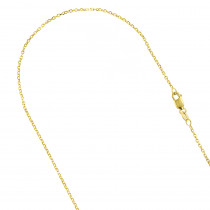 LUXURMAN Solid 14k Gold Cable Chain For Men & Women 1.4mm Wide