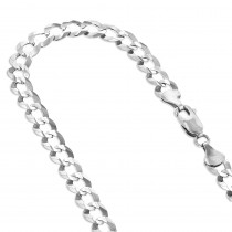 LUXURMAN Solid 14k Gold Curb Chain For Men & Women Comfort 3.5mm Wide