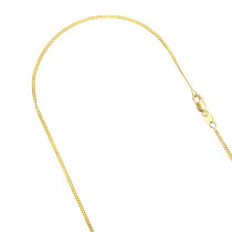 LUXURMAN Solid 14k Gold Curb Chain For Men & Women Gourmette 1.5mm