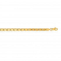 LUXURMAN Solid 14k Gold Heart Chain For Women 3.5mm Wide