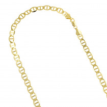 LUXURMAN Solid 14k Gold Mariner Chain For Men & Women 6.5mm Wide