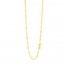 LUXURMAN Solid 14k Gold Singapore Chain For Women Extendable 1.7mm
