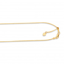 LUXURMAN Solid 14k Gold Snake Chain For Women Octagon Adjustable 0.9mm