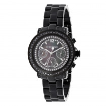 Luxurman Watches: Ladies Black Diamond Watch 2.15ct