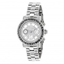 Luxurman Watches: Ladies Black Diamond Watch 2.50ct