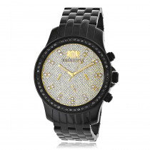 Luxurman Watches Mens Black Diamond Watch 2.25ct