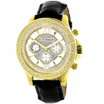 Luxurman Watches: Mens Diamond Watch 0.18ct