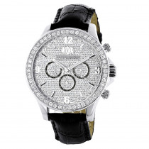Luxurman Watches: Mens Diamond Watch 3ct