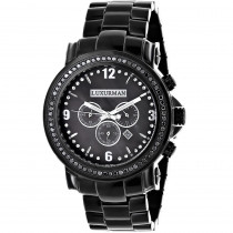 Luxurman Watches Review: Mens Black Diamond Watch 3ct Oversized