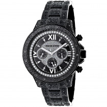 Mens Black Diamond Luxurman Watch 1.25ct Iced Out