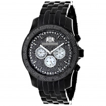 Mens Black Diamond Watch 0.25ct LUXURMAN New Arrival
