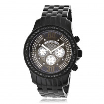 Mens Black Diamond Watches by LUXURMAN 2.25ct