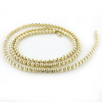 Mens Chains: Yellow Gold Ball Moon Cut Chain 10K 5mm 22-30in
