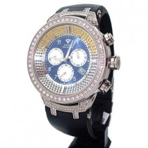 Mens Color Diamond Aqua Master Watch 4.25ct