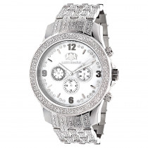 Mens Diamond Band Watch by LUXURMAN 1 Carat