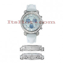 Mens Diamond Benny and Company Watch 5ct White