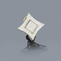 Mens Diamond Earring 0.5ct 14K Gold