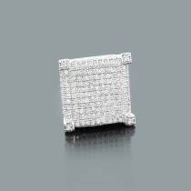 Mens Diamond Earring 0.70ct 14K Gold Single Stud